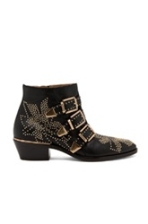 Chloe Chloe Susanna Leather Studded Booties In Black