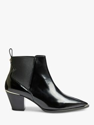 Ted Baker Rilanni Western Leather Ankle Boots Black