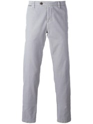 Eleventy Straight Trousers Grey