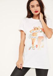 Missguided White I'm Your Secret Santa Christmas T Shirt