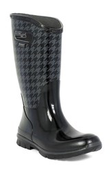 Bogs Women's 'Berkley Houndstooth' Waterproof Rain Boot Black Multi Wool