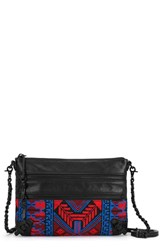 Elliott Lucca 'Messina' 3 Zip Crossbody Clutch Black Black Gypset