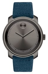 Movado Bold Suede Strap Watch 42Mm