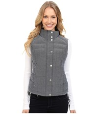 Spyder Vyvyd Synthetic Down Vest Sagan Tweed Fabric Women's Vest Gray