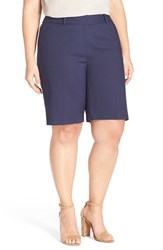 Plus Size Women's Sejour Stretch Twill Bermuda Shorts