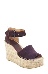Marc Fisher Ltd Alida Espadrille Platform Wedge Natural Multi Suede