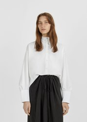 Atlantique Ascoli Poplin Dolman Shirt White Poplin And Pique