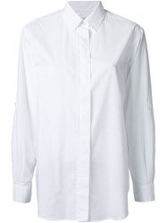 Closed Hidden Button Shirt White
