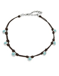 Uno De 50 Tomorrowland Beaded Choker Necklace Turquoise