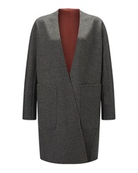 Jigsaw Double Faced Sculpted Coat Pink