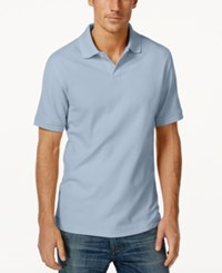 Club Room Big And Tall Performance Uv Protection Men's Polo Shirt Pale Ink Blue