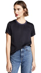 Nation Ltd. Ltd Marie Sateen Boxy Crop Top Night