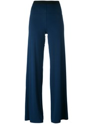 Stefano Mortari Flared Pants Blue