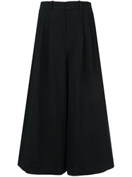 Co High Wasted Cropped Trousers Black