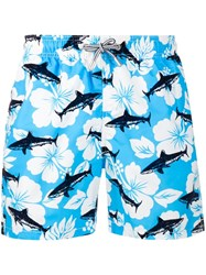 Mc2 Saint Barth Gustava Swimming Shorts Blue