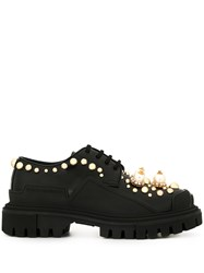 Dolce And Gabbana Chunky Heel Embellished Derbies 60