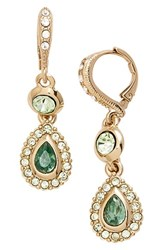 Women's Givenchy Jeweled Drop Earrings Gold Green