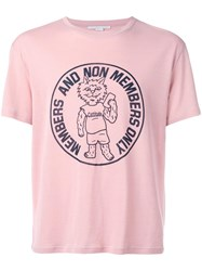 Stella Mccartney Members Only Cat Print T Shirt Pink Purple