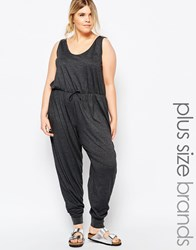 Pink Clove Lounge Relaxed Jumpsuit Grey