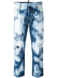 Dsquared2 Tomboy Bleached Jeans Blue