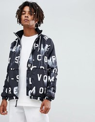 Volcom Abandoned Playground Jacket With All Over Print In Black