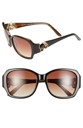 Bcbgmaxazria 'Luminous' 56Mm Sunglasses Black Laminate