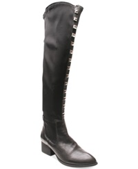 Two Lips Lava Over The Knee Boots Women's Shoes Black
