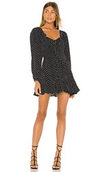 Cleobella Anne Mini Dress In Black. Polka Black