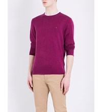 Tommy Hilfiger Crewneck Knitted Jumper Magenta Purple Heather