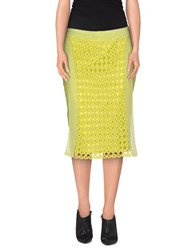Custo Barcelona Skirts Knee Length Skirts Women Acid Green