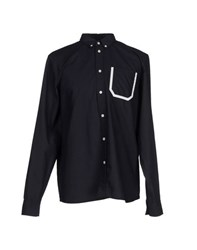 Wood Wood Woodwood Shirts Shirts Men Dark Blue
