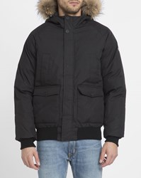 Pyrenex Black Mistral Removable Genuine Fur Hood Quilted Jacket