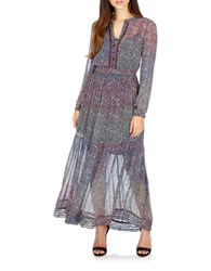 Lucky Brand Long Sleeve Maxi Dress