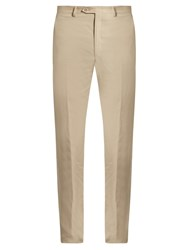 Brioni Slim Fit Linen Trousers Beige