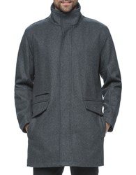 Marc New York Stanford Pressed Wool Jacket Charcoal
