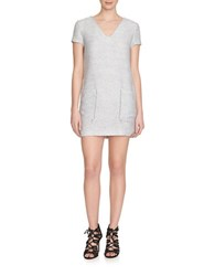 1.State Textured Knit Shift Dress White