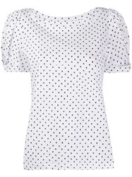 Federica Tosi Geometric Print Slim Fit T Shirt 60