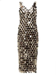 Paco Rabanne Sequinned Chainmail Dress Silver