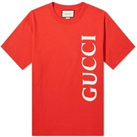 Gucci Large Logo Tee Red