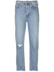Re Done High Rise Distressed Cropped Jeans 60