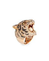 Roberto Coin 18K Rose Gold Diamond Pave Tiger Ring