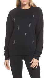 Ultracor 'S Swarovski Bolt Sweatshirt Nero Black Chrome