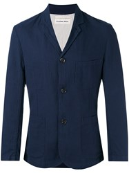 Universal Works Single Breasted Coat Blue
