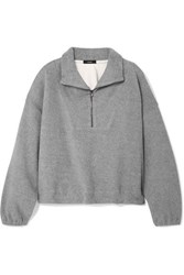 Bassike Oversized Cotton Fleece Sweatshirt Gray