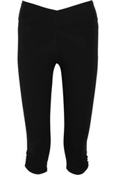 Yummie Tummie By Heather Thomson Candace Cropped Stretch Cotton Blend Leggings Black