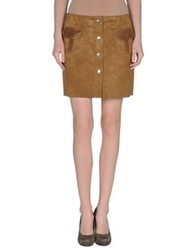 Couture Du Cuir Leather Skirts Ocher
