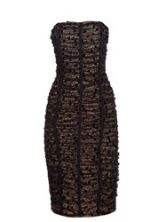 Balenciaga Ruched Lace Strapless Dress