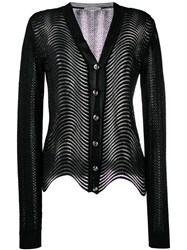 Marco De Vincenzo Wave Knit Cardigan Black