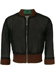 Jean Paul Gaultier Vintage Sheer Bomber Jacket Black