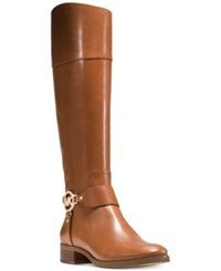 Michael Kors Fulton Harness Tall Riding Boots Women's Shoes Luggage